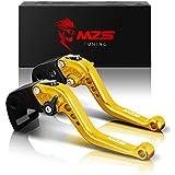 MZS Short Levers Brake Clutch CNC compatible Honda CBR 500R CBR500RR CB500F CB500X 13-18/ GROM MSX125 14-18/ CBR 300RR CBR300R CB300F CB300FA 14-17/ CBR250R 11-13/ CB300R 18-19/ Monkey 125 18-19 Gold