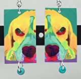 """Soulful Eyes"" who doesn't love a beagle! Colorful, fun wearable art. *The earrings are hand cut and also smoothed by hand. They measure approx. .75"" x 1.20"" come embellished with Czech Glass Beads. Lightweight, sturdy and so comfortable. Ear..."