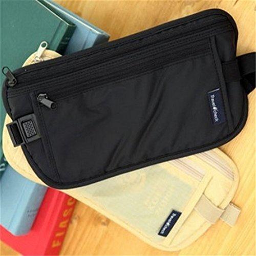 Generic Khaki: 2Multifunktional Taille Bag Travel Wandern Tasche Gürtel Geld aus, Wallet Outdoor Sport Staubbeutel Pack Geld Tasche Passport Halter