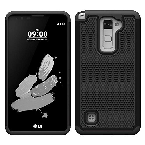 Berry Accessory(TM) [Drop Protection] [Shock Proof][Dual Lawyer] Hybrid Defender Armor Case Cover For LG G Stylo 2 LS775 (2016) With Berry stand holder - Sale Savings Baseball Black Friday