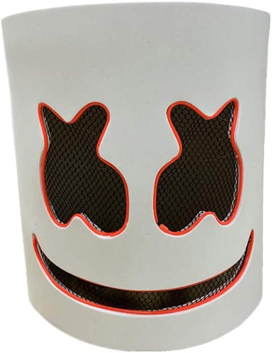 Music Festival Helmets,Light Up Latex Full Head Costume Masks DJ LED Mask