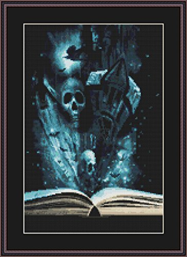 Book of Halloween Counted Cross Stitch Kit By Orcraphics