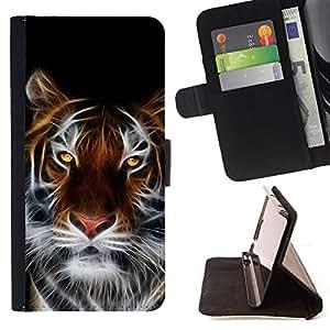 - Fierce Magical Tiger - - Prima caja de la PU billetera de cuero con ranuras para tarjetas, efectivo desmontable correa para l Funny HouseFOR Samsung Galaxy Note 3 III