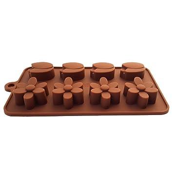 fanhesheng silicona flores Candy molde Chocolate molde cubito de hielo bandejas Candy moldes, moldes hielo, moldes de silicona, moldes de cocción de ...