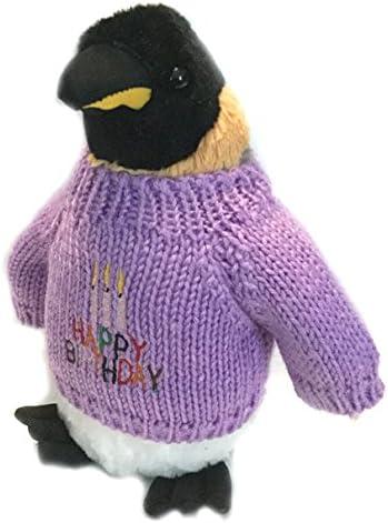 "10/"" Tall Penguin Birthday Plush Stuffed Animal"