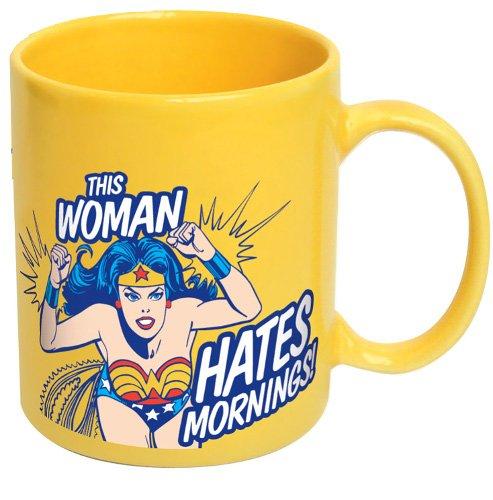 DC Comics Wonder Woman This Woman Hates Mornings Mug