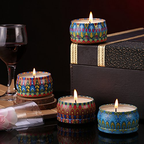 scented candles set 4 soy