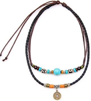 Gorgeous Unique Handmade One of A Kind Turquoise And Stone Braided Choker Necklace!