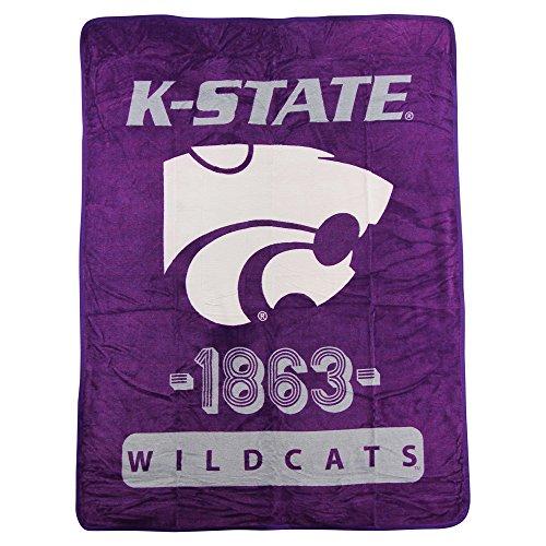 The Northwest Company NCAA Collegiate Varsity Super Soft Plush Throw Blanket (Kansas State Wildcats)