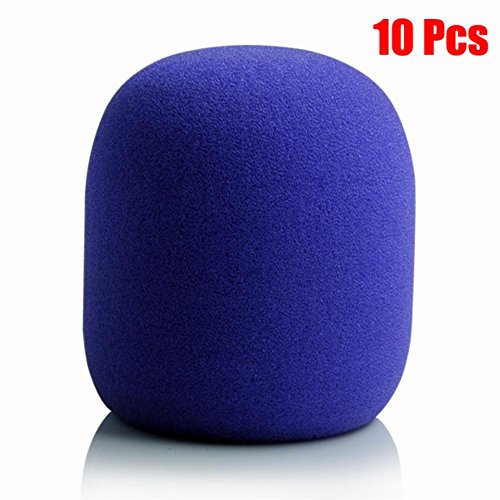 smo-10pcs-purple-handheld-microphone-karaoke-dj-windscreen-sponge-foam-mic-cover