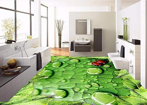 3d Fußboden Wasser ~ Kuamai benutzerdefinierte d bodenbelag frische blätter von wasser