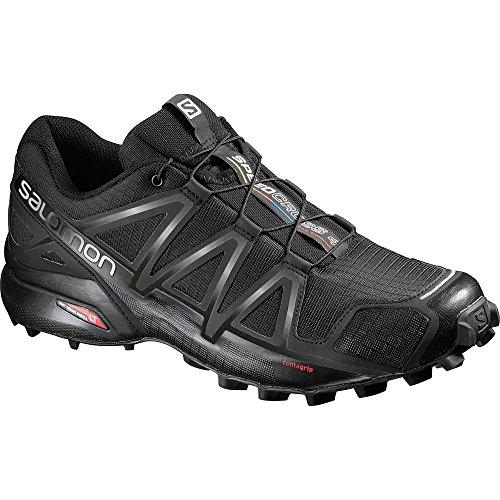 Salomon Speedcross 4 Trail Running Shoe - Men's Black/Black/Metallic 13 by Salomon