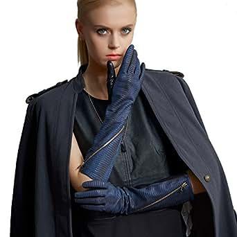 Fioretto Womens Long Italian Leather Gloves Opera Length