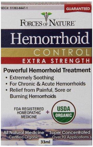 Forces of Nature hémorroïdes Extra Strength, 33 Gram