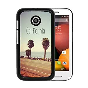 RCGrafix Brand California Republic Flag Grunge Distressed Motorola Moto E Cell Phone Protective Cover Case - Fits Motorola Moto E