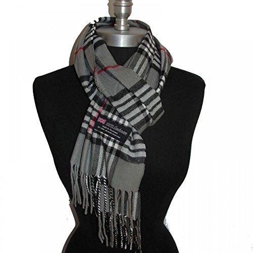Gray_(US Seller)New Fashion Scarf Scotland Made Warm Wool - A91