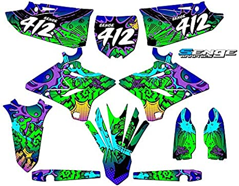 2-Stroke 2015-2020 YZ 125//250 Compatible with Yamaha Senge Graphics Zany Blue CUSTOM Complete kit
