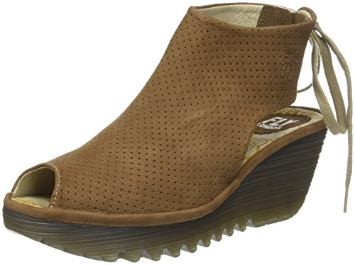 Fly London Womens Ypul 799 Nubuck Sandalen Bruin