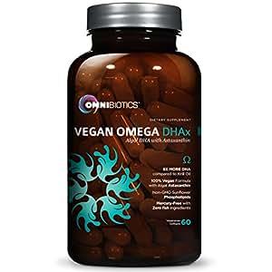 Vegan DHA   MD-Certified Prenatal DHA   8X MORE DHA than Krill Oil! Fish-Free Omega Essential Fatty Acids - Algal Omega-3, Omega-6, DHA  
