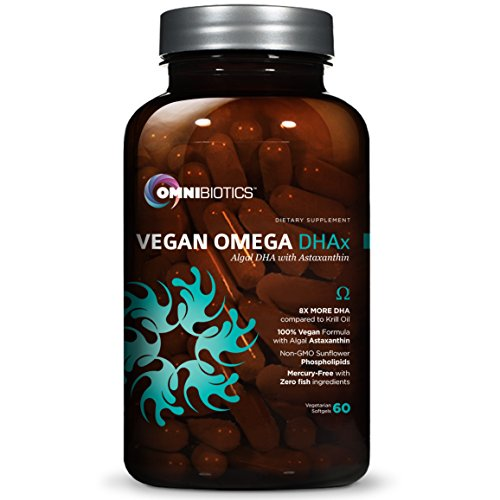 Vegan DHA | MD-Certified Prenatal DHA | 8X MORE DHA than Krill Oil! Fish-Free Omega Essential Fatty Acids - Algal Omega-3, Omega-6, DHA | 60 vegetarian softgels