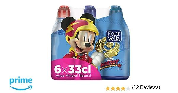 Font Vella Agua Mineral con tapón infantil - Pack 6 x 33cl: Amazon.es: Amazon Pantry