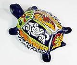 Tierra Fina Talavera Large Wall Turtle - 7'' W x 10'' L (Blue Body)