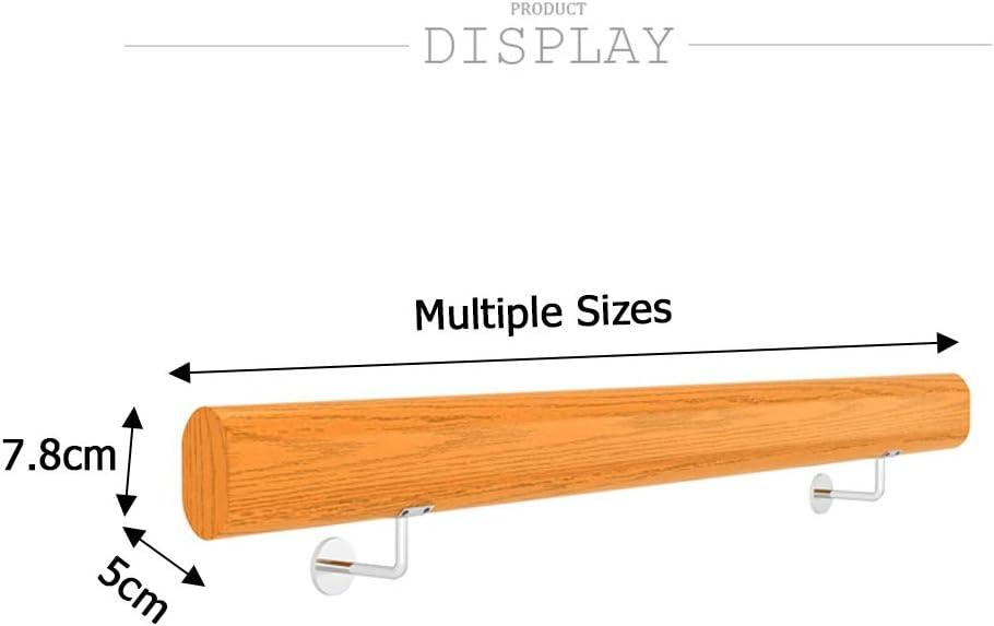 Longitudes m/últiples Pasamanos Barandillas de cubierta Barandillas de seguridad Estilo DIY de servicio pesado Barandillas de madera maciza Soportes de acero inoxidable Interiores y exteriores
