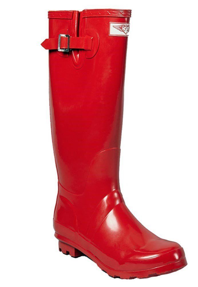 Forever Young - Womens Wellie Rain Boot, Red 37278-11B(M) US