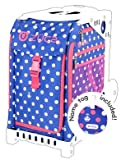 ZUCA Sport Insert Bag,Polka Bots with Name Tag & Pink Frame w/Flashing Wheels