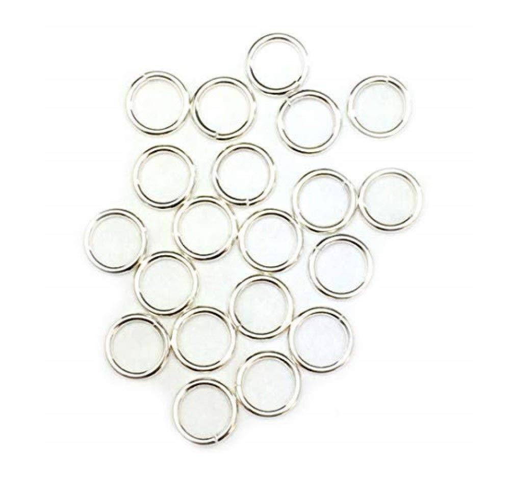 50 Jump Rings Open Sterling Silver Jewelry 19 Ga 6mm