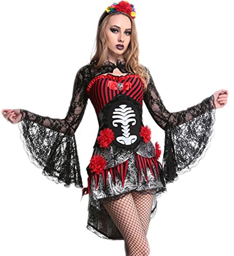 Papaya Wear Women Halloween Zombie Costume Ghost Bride Dress Adult