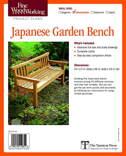 Clara Bench - Fine Woodworking's Japanese Garden Bench Plan (Fine Woodworking Project Plans)
