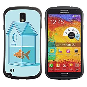 Hybrid Anti-Shock Bumper Case for Samsung Galaxy Note 3 / Goldfish House