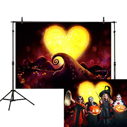 Nightmare Before Christmas Theme (Allenjoy 7x5ft Nightmare Before Christmas Theme Backdrop Halloween Pumpkin Jack Photography Background Children Birthday Baby Shower Party Decoration Cake Table Banner Photo Studio Booth)