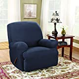 Sure Fit Stretch Suede T-Cushion Recliner Slipcover