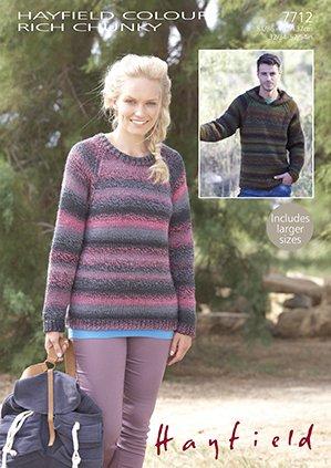 Hayfield Colour Rich Chunky 200g 7712 Sweaterhoodie Knitting