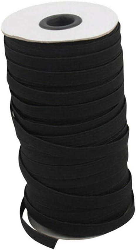 /Élastique Couture 5mm 3mm 4.5mm 6mm Cordon /Élastique Bobine Plat Bande Tissu Rubans Extensible Noir Blanc Loisir Cr/éatif V/êtements Bricolage DIY par PanDaDa