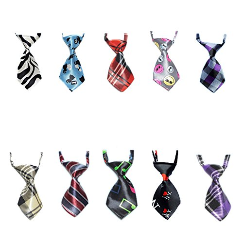 GOGO Dog Neckties Collection, Dog Grooming Accessories, 10 Pcs Assorted-Set 2