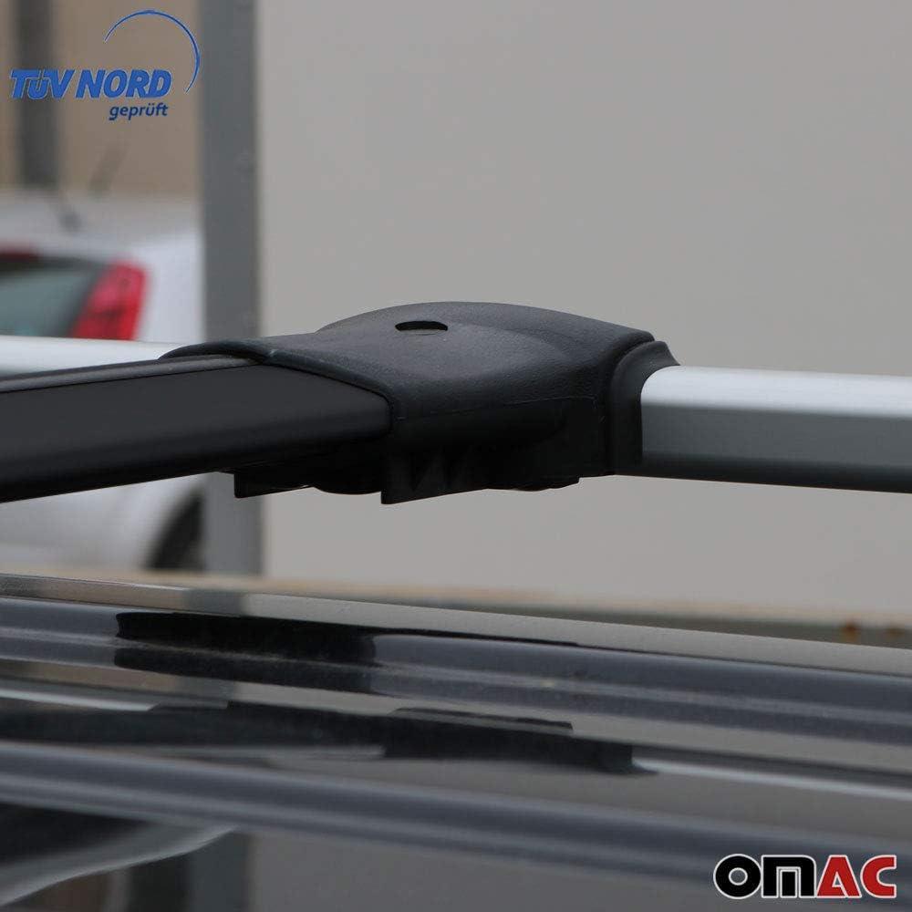 Omac Aluminium Schwarz Dachträger Dachgepäckablage Relingträger Für C4 Cactus 2014 2020 Dachgepäckträger Mit TÜv Abe Auto