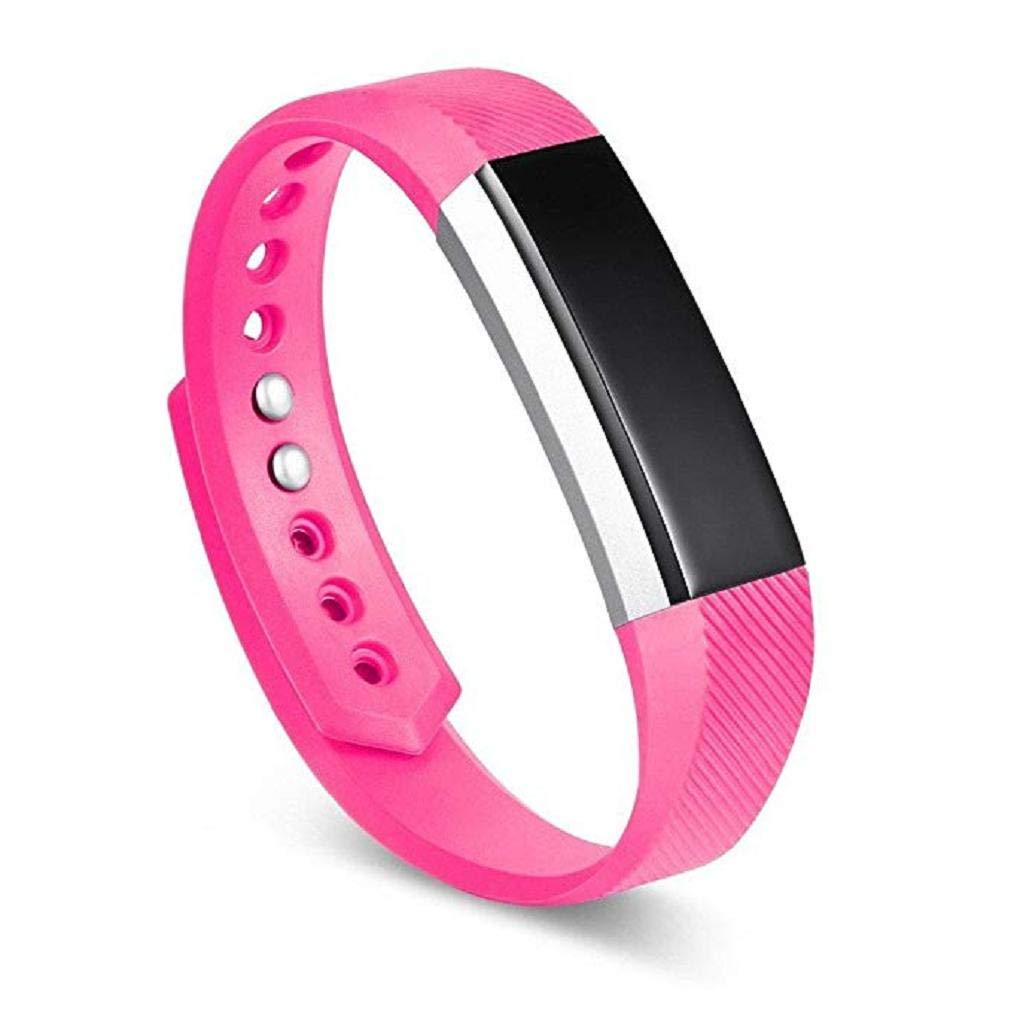 Fashion Clearance! Noopvan Replacement Accessories Straps for Fitbit Alta/Alta HR and Fitbit Ace, Classic Sport Wristbands Band for Large Small Women Men (Hot Pink, Large)