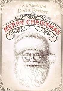 """Papá y socio tarjeta de Navidad–'A un maravilloso Dad y socio feliz Navidad """""""