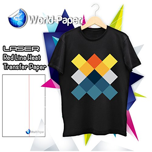 Transfer Paper For Laser Printers Red Line 11 x 17 For Dark Fabric 10 Sheets
