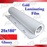 "INTBUYING 25x180"" (0.7x5Yards) 3Mil Glossy UV"