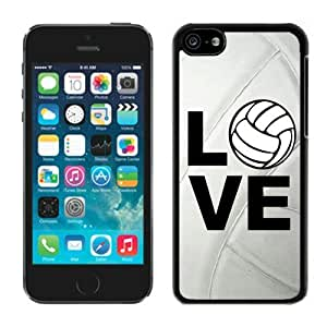 MMZ DIY PHONE CASEDiy TPU Phone Cases for ipod touch 5 Volleyball Keep Calm Play on Volleyball Player Soft Silicone Cell Phone Black Cover