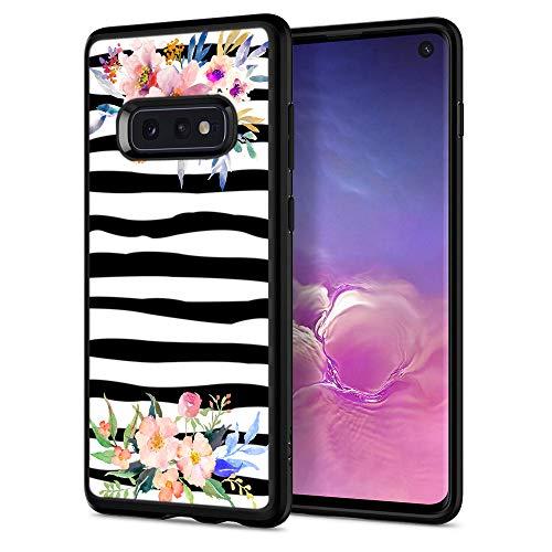 Zebra Cases for Samsung S10e,Casililor [TPU] [Anti-Slip] Premium Slim Protective Zebra Case Cover for Samsung Galaxy S10e - Zebra Watercolor Flowers