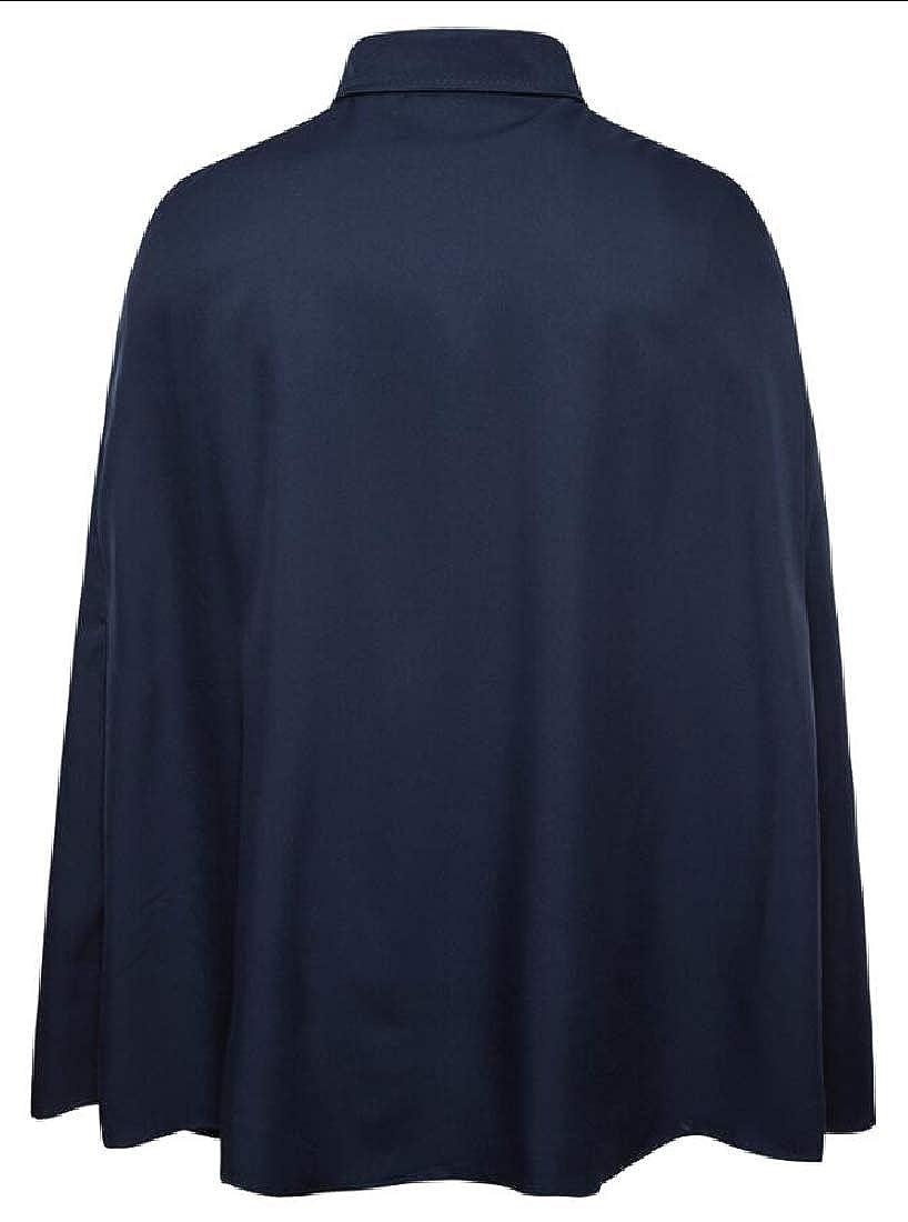 HTOOHTOOH Mens Fashion Casual Performance Slim Fit Shirts Cloak