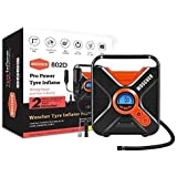 Woscher Pro Power 802D Digital Car Tyre Inflator with Digital Display, Auto Shutoff