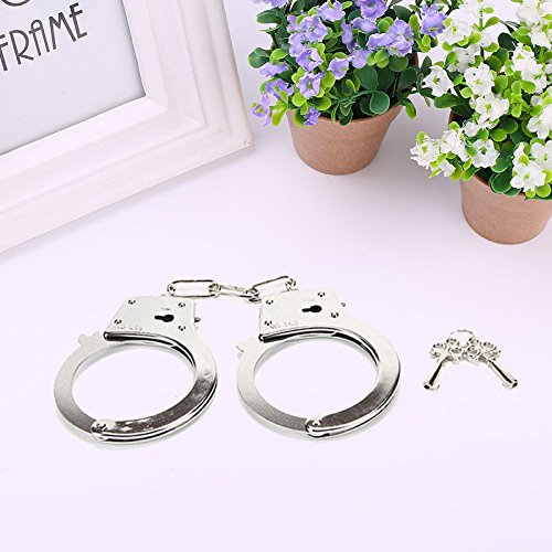 Cido Metal Handcuffs Police Halloween Tricks Joke Pranks Fool's Day - How Costume Police Make To A