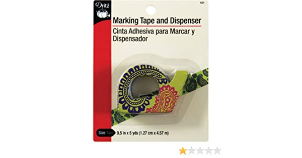 Amazon.com: Dritz 421 1/2-Inch by 5-Yard Marking Tape and Dispenser, 2-Pack: Arts, Crafts & Sewing