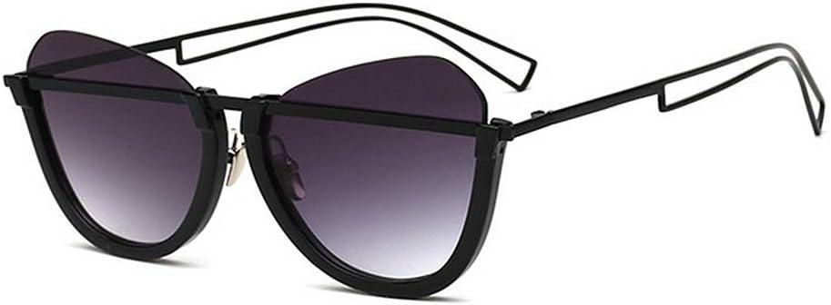 MOMIN Señoras Gafas de Sol polarizadas Vacaciones Gafas de Sol Unisex del Gato de los Ojos Flat Top Frame Personalidad Gafas de Sol protección UV400 de conducción de Playa del Verano Protección UV
